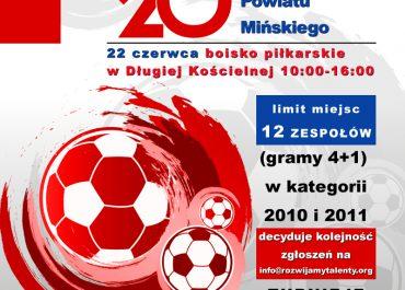 Turnieje piłkarskie dla najmłodszych z okazji 20-lecia powstania Powiatu Mińskiego
